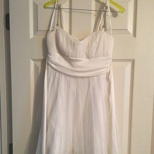 White Sparkle Formal Dress
